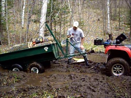 MUTS ATV Utility Trailer self propelling
